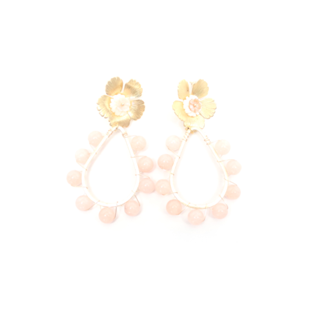 T Marie Maddie Earrings - Gold plated/Blush