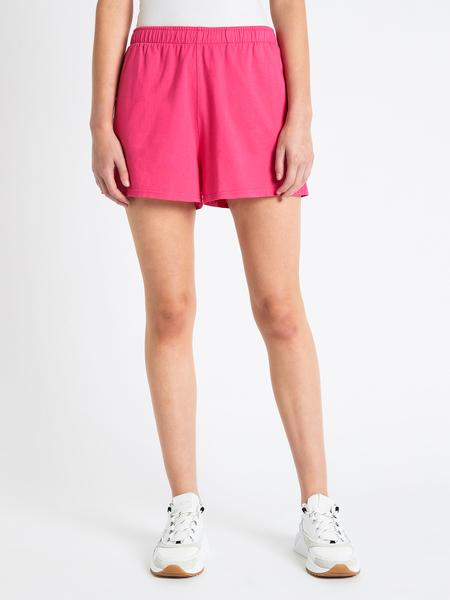 LES GIRLS LES BOYS Loose Cotton Short - Pink