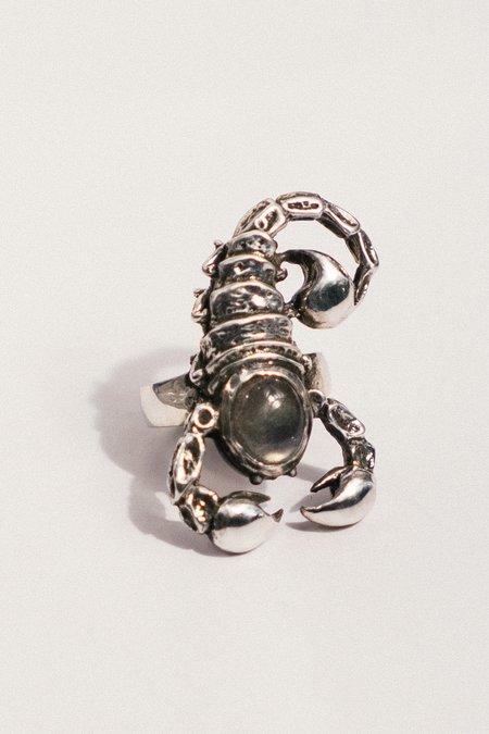 Allison Bartline Scorpious Ring with Labradorite - silver