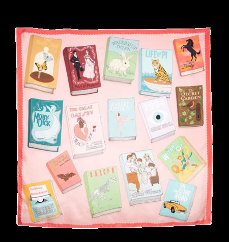 Karen Mabon Bookworm Silk Scarf - Bookworm