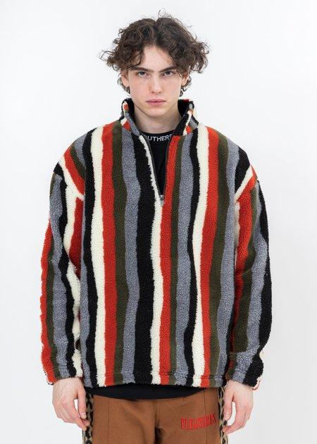 PLEASURES Quater Zip Sherpa jackets - multi