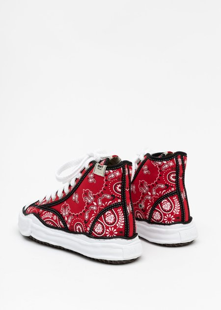 Mihara Yasuhiro Original Sole Bandana Printed Canvas Sneaker - Red