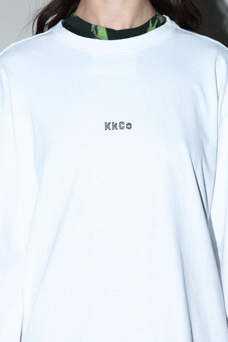 Unisex Kk Co Studio Rhinestone From Outer Space Tee - White
