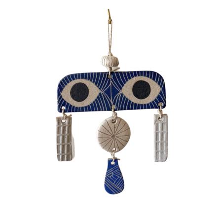 jen e ceramics Peekaboo Wall Hanging - Blue