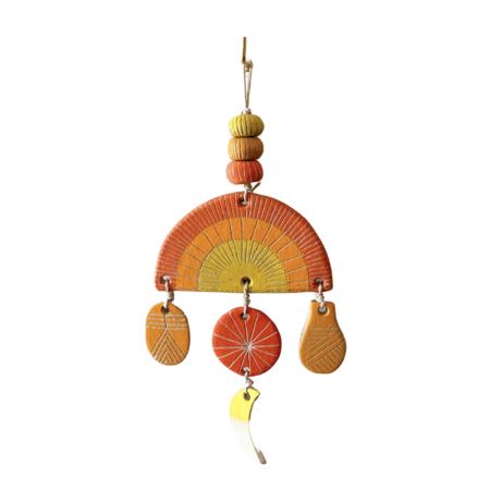 jen e ceramics Rainbow Wall Hanging - Orange