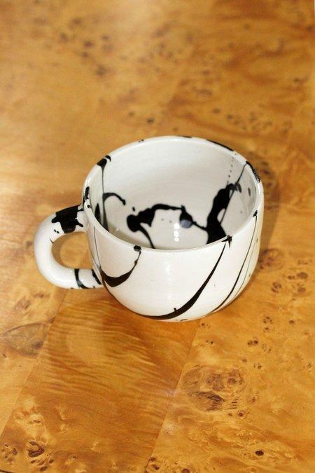 BTW Ceramics Wacky Mug - Black/White