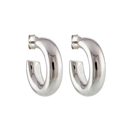 "Machete .75"" Perfect Hoops - Silver"