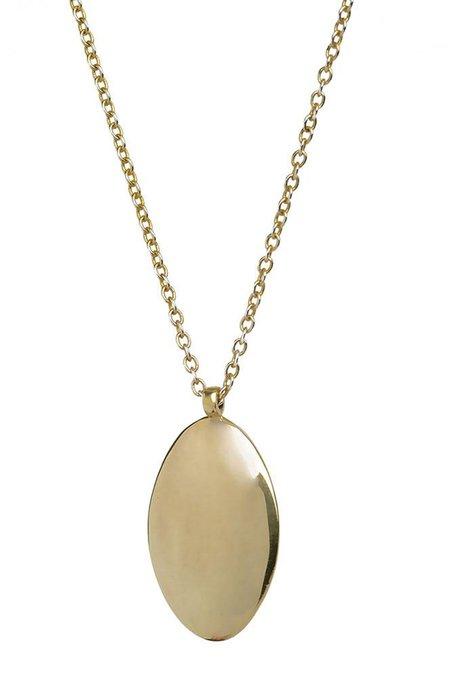 Soko Oval Medallion Pendant necklace - brass