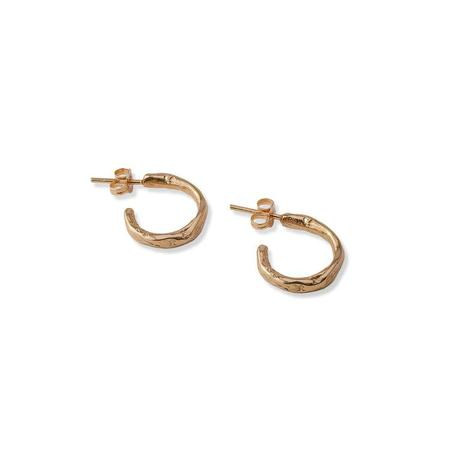Tilda Mini stoned hoops - 18ct gold plated
