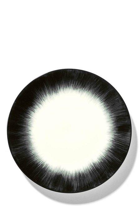 Ann Demeulemeester Set of 2 17.5 cm Var 4 plate - Off-White/Black