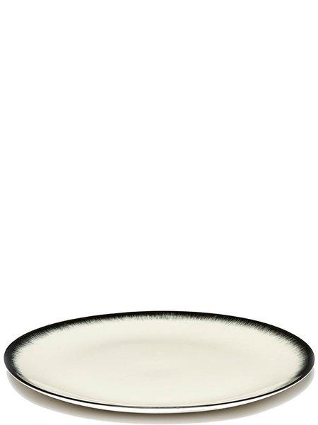 Ann Demeulemeester x Serax 24 cm Var 3 plate - Off-White/Black