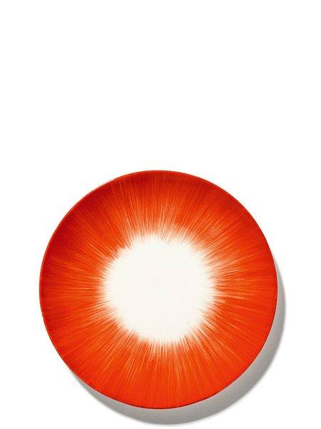 Ann Demeulemeester 17.5 cm Var 5 plate - off-White/Red