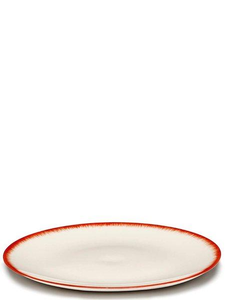 Ann Demeulemeester x Serax 24 cm Var 2 Plate - Off-White/Red