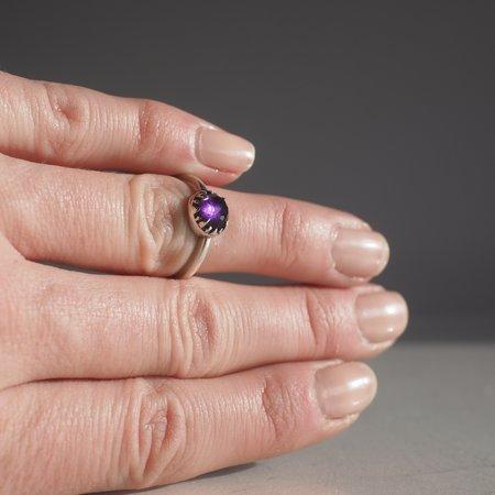 Angela Monaco Matrix Halo Ring with Amethyst - silver
