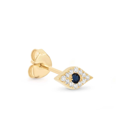 By Charlotte 14k Evil Eye Single Earring - 14K Gold