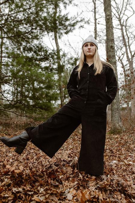 Conrado Willie Longsleeve Cotton Coveralls - Black Velvet