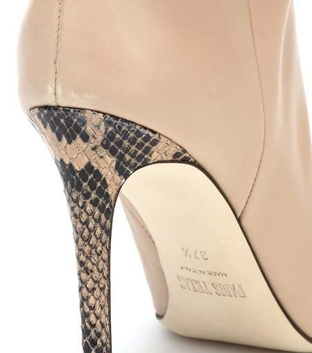 Paris Texas Calf Leather Slouchy Boot - BEIGE
