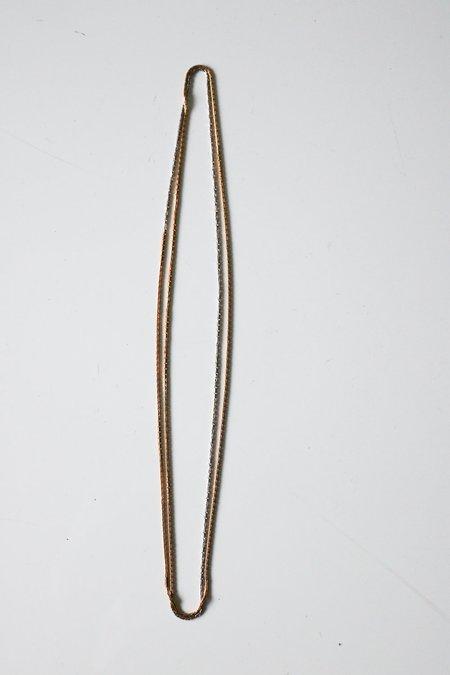 Vintage Gradient Box Chain - Gold/Silver
