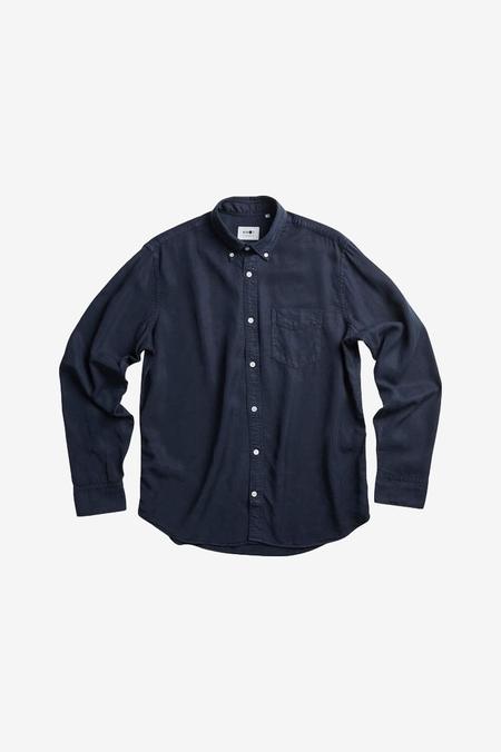 NN07 Levon Tencel Shirt - Navy Blue