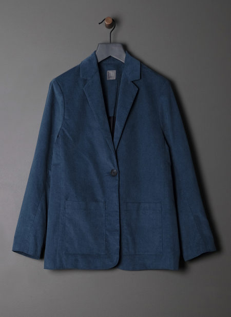 GREI. ONE BUTTON SUIT JACKET - TEAL