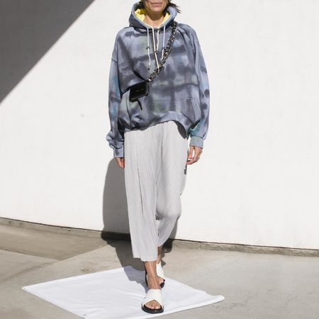 Pleats Please by Issey Miyake Thicker Bottoms Tapered Pants