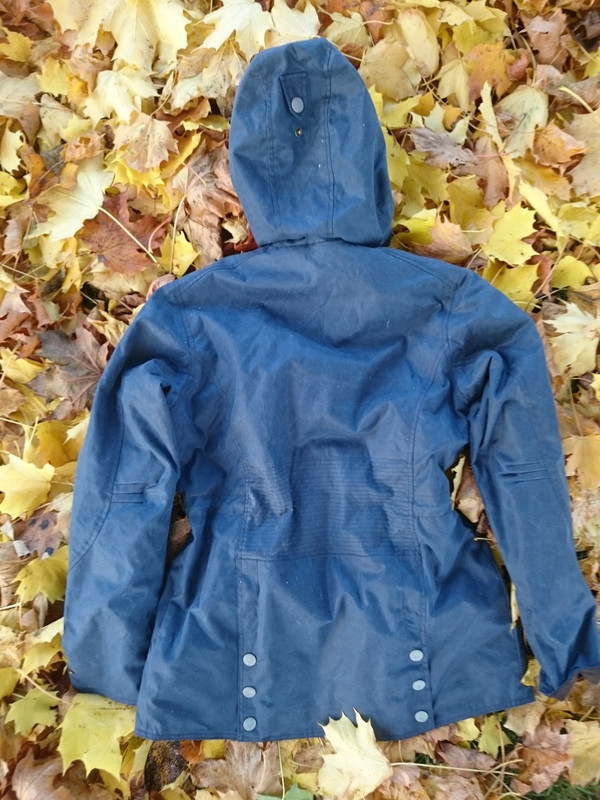 English Utopia Isolt Wax Jacket - Navy