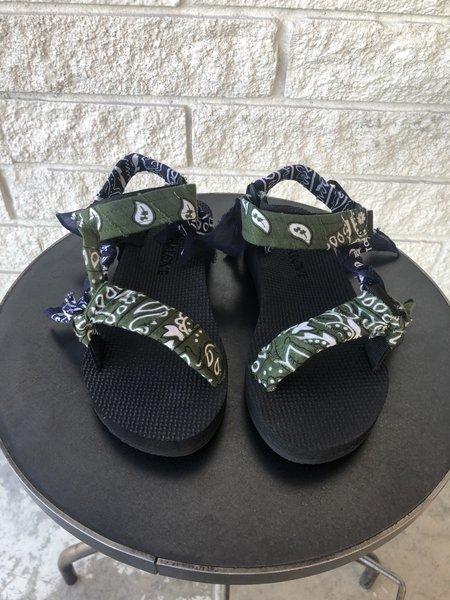 Arizona Love TREKKY BANDANA shoes - KAKI NAVY BANDANA