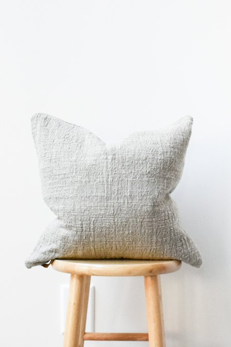 at Dawn. Herb Dyed Pillow Case - Light Brown