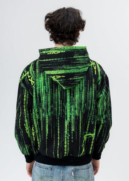 LXVI Screen Print Hoodie - Black/Green