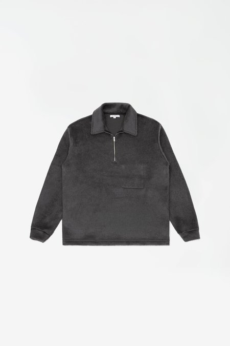 Lady White Co. Furry quarter zip sweatshirt - steel grey