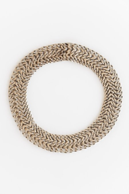 Vintage TAXCO WIDE CHAIN CHOKER - SILVER