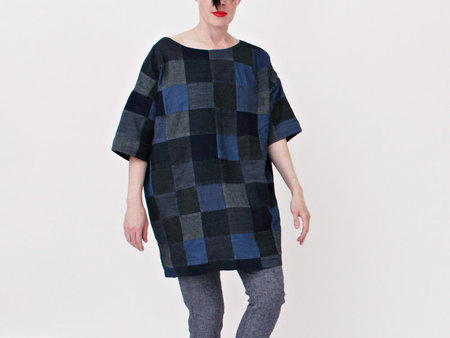 Mary Meyer Patchwork Denim Square Dress