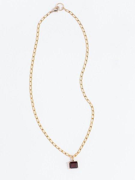 FARIS Gem Necklace - Bronze/Garnet