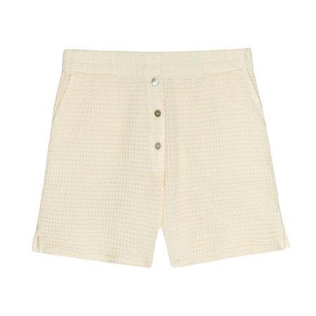 Donni Waffle Shorts - Cream