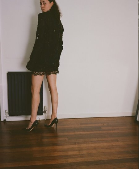 Sydney Pimbley Needle Felted Power Suit Skirt - Black/Brown