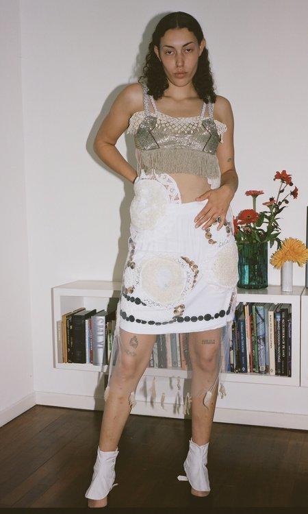 Sydney Pimbley Dot to Dot Skirt - White