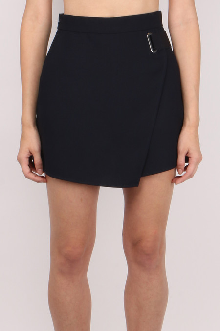 Carven Crepe Wrap-Over Shorts
