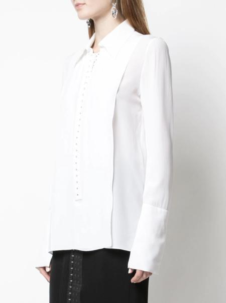 Mugler Exaggerated Cuff Shirt -white