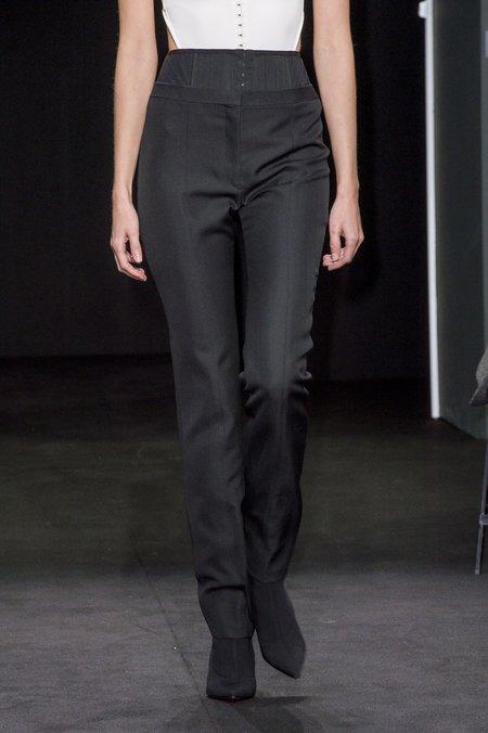 Mugler High Waisted Corset Trousers - black