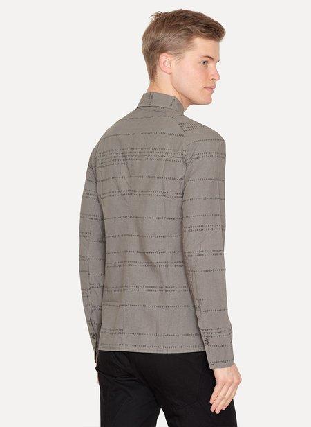 LUMEN ET UMBRA Laser Burned Button Down Shirt - Grey