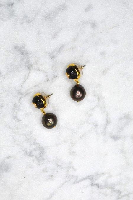 Lizzie Fortunato Yolo Earring - Onyx