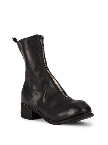 Guidi PL2 Front Zip Ankle Boots - Black