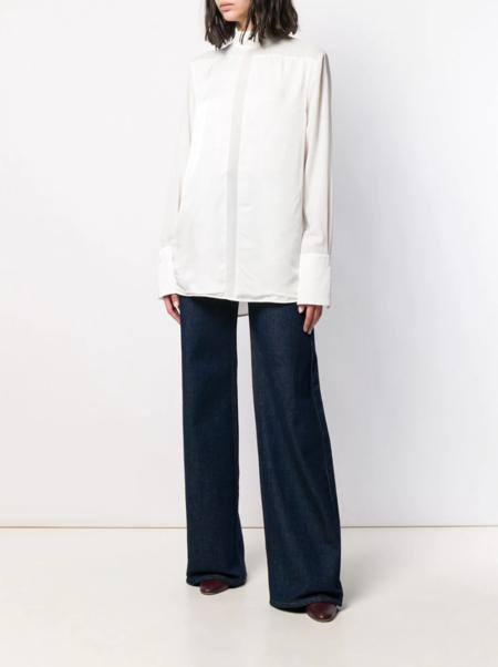 Victoria Beckham Sheer Panel Shirt - white