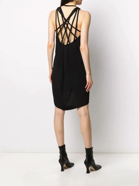 Rick Owens Tecuatl Megalace Mini Slip Dress - black