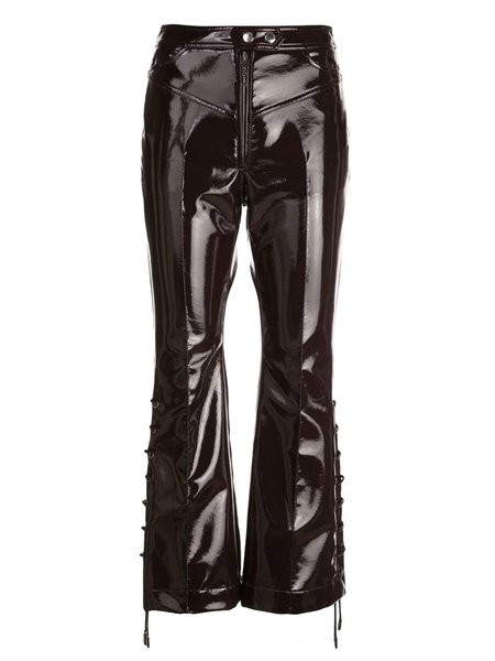 Ellery Westward Lace-Up Flared Trousers - Brown