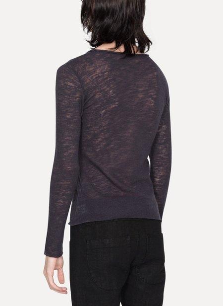 LUMEN ET UMBRA Wool Long Sleeve T-Shirt - Aubergine
