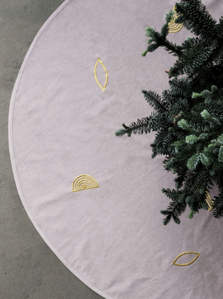 Ferm Living Embroidered Tree Blanket