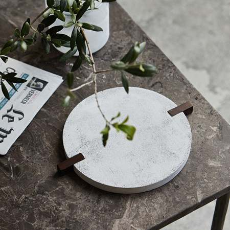 An Artful Life Concrete trivet - cream