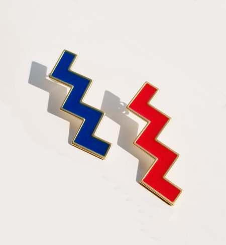 MATTER MATTERS Zs Earrings - Red/Blue