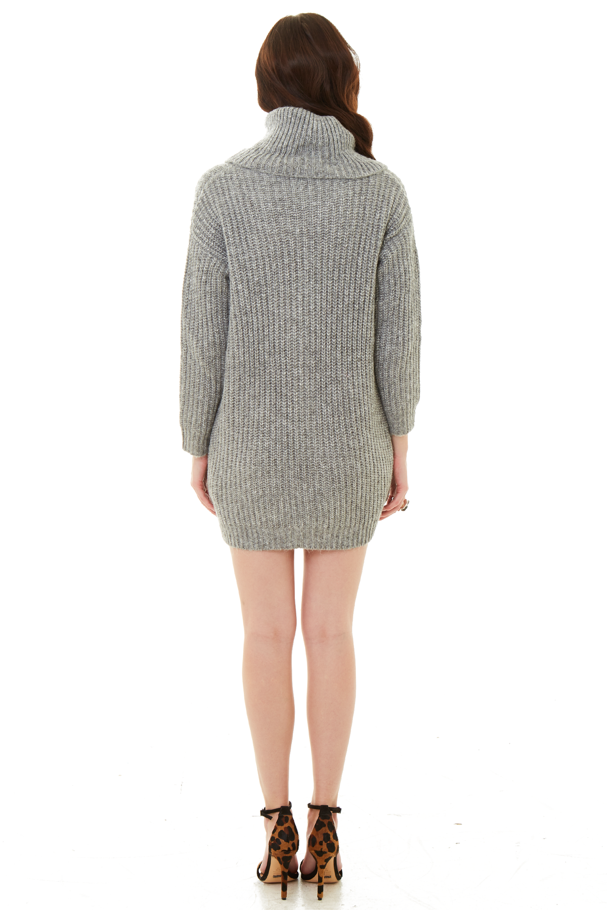 770e3cd4832 Cupcakes and Cashmere Heather Grey Ventura Sweater Dress